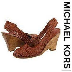 💕SALE💕 Michael Kors Brown Leather Sandals